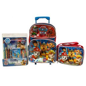 Paw Patrol 3pc Backpack, Stationery & Lunch Bag